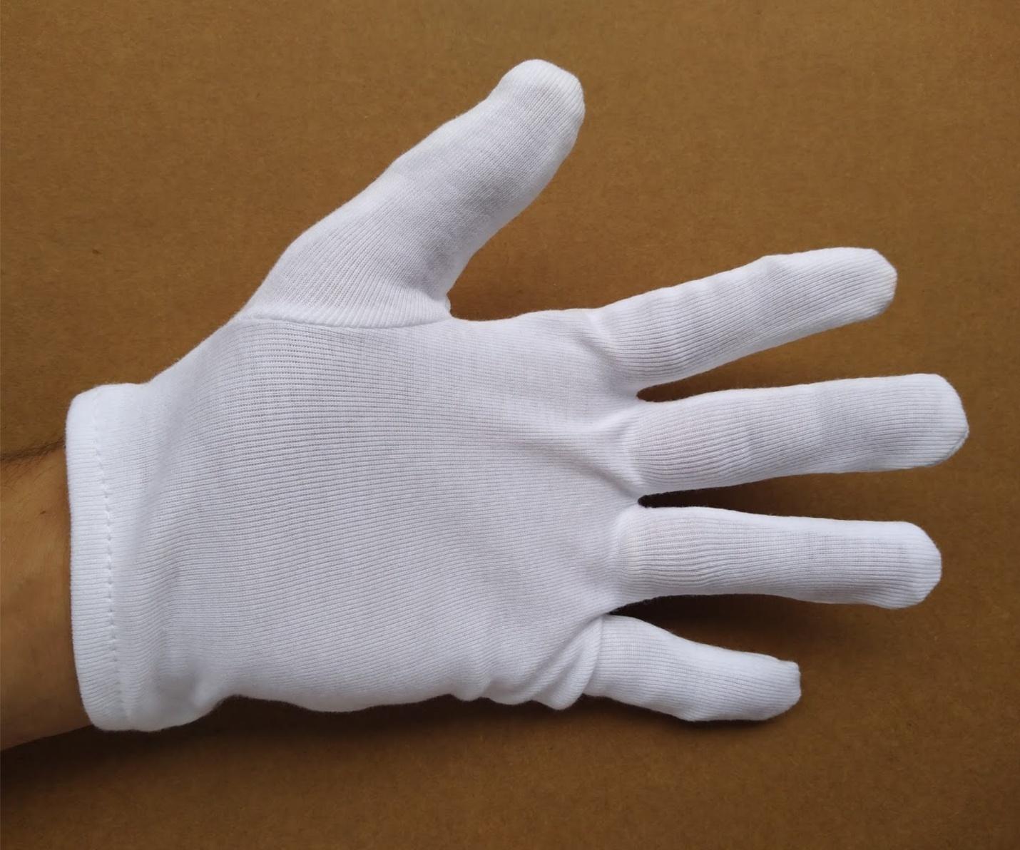 Găng tay cotton trắng