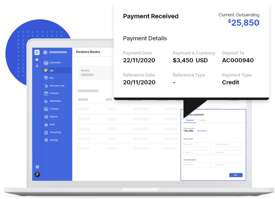Receive and Record Online Payments with Deskera - Accumulated Profit