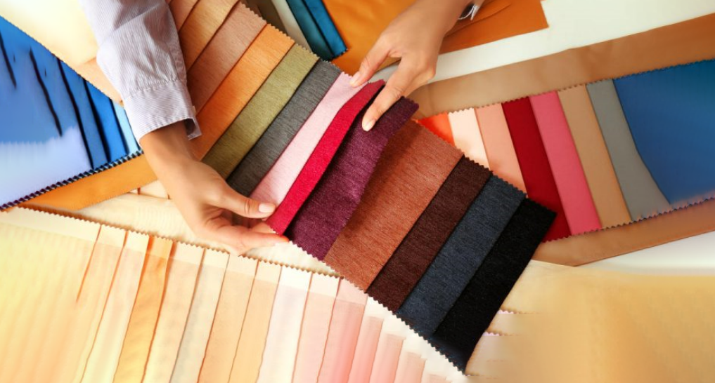 swatches of curtain material