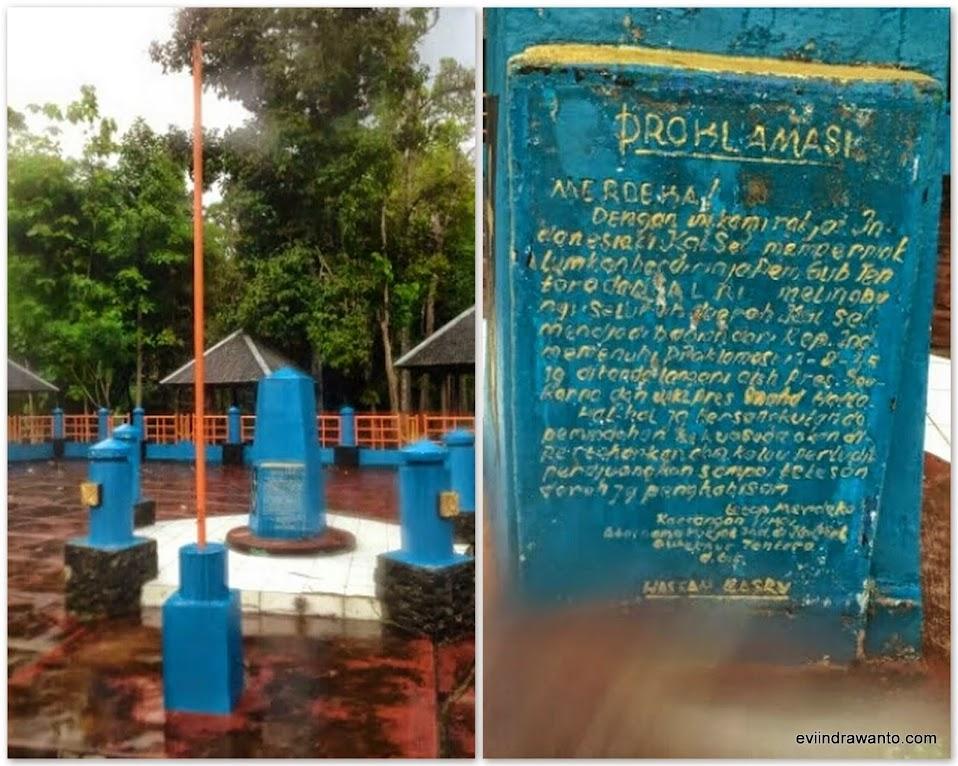 Prasasti Proklamasi 17 Mei 1949 di Desa Ni'ih Loksado