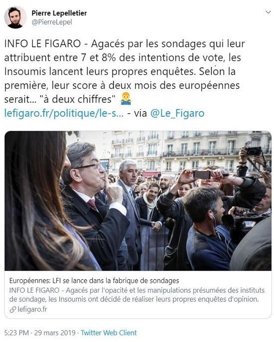 LFI réalise ses propres sondages pour les européennes