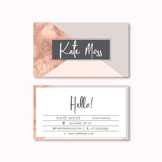 Diseño de tarjeta de visita preconfeccionados por PeachCreme #bestbusinesscards