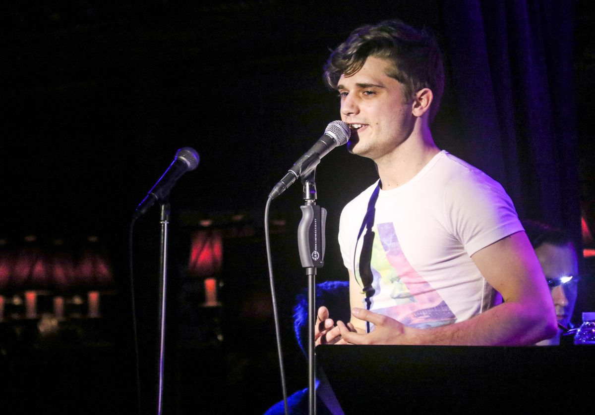 NEW YORK, NY - MARCH 03: Andy Mientus performs at 54 Below on March 3, 2015 in New York City. (Photo by Janette Pellegrini/Getty Images)