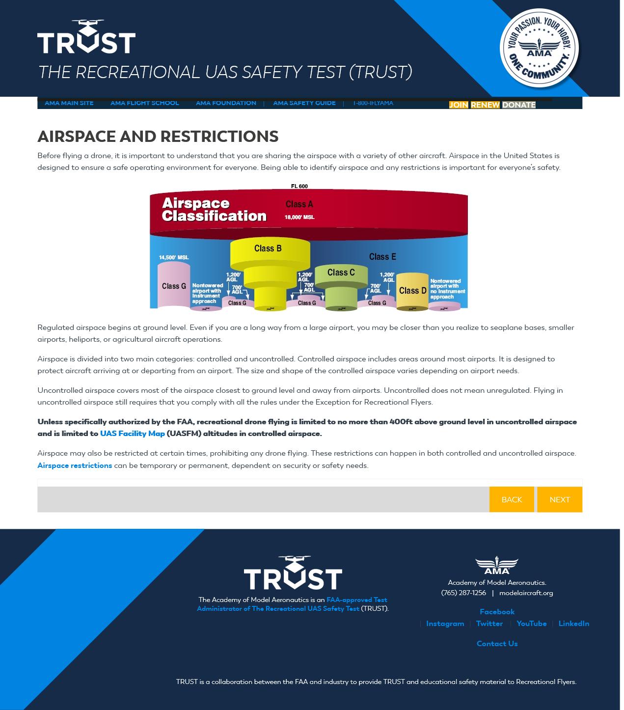 FAA TRUST Test