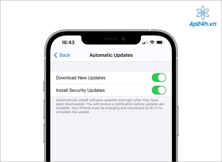Người dùng sẽ có 2 tùy chọn khi cập nhật iPhone