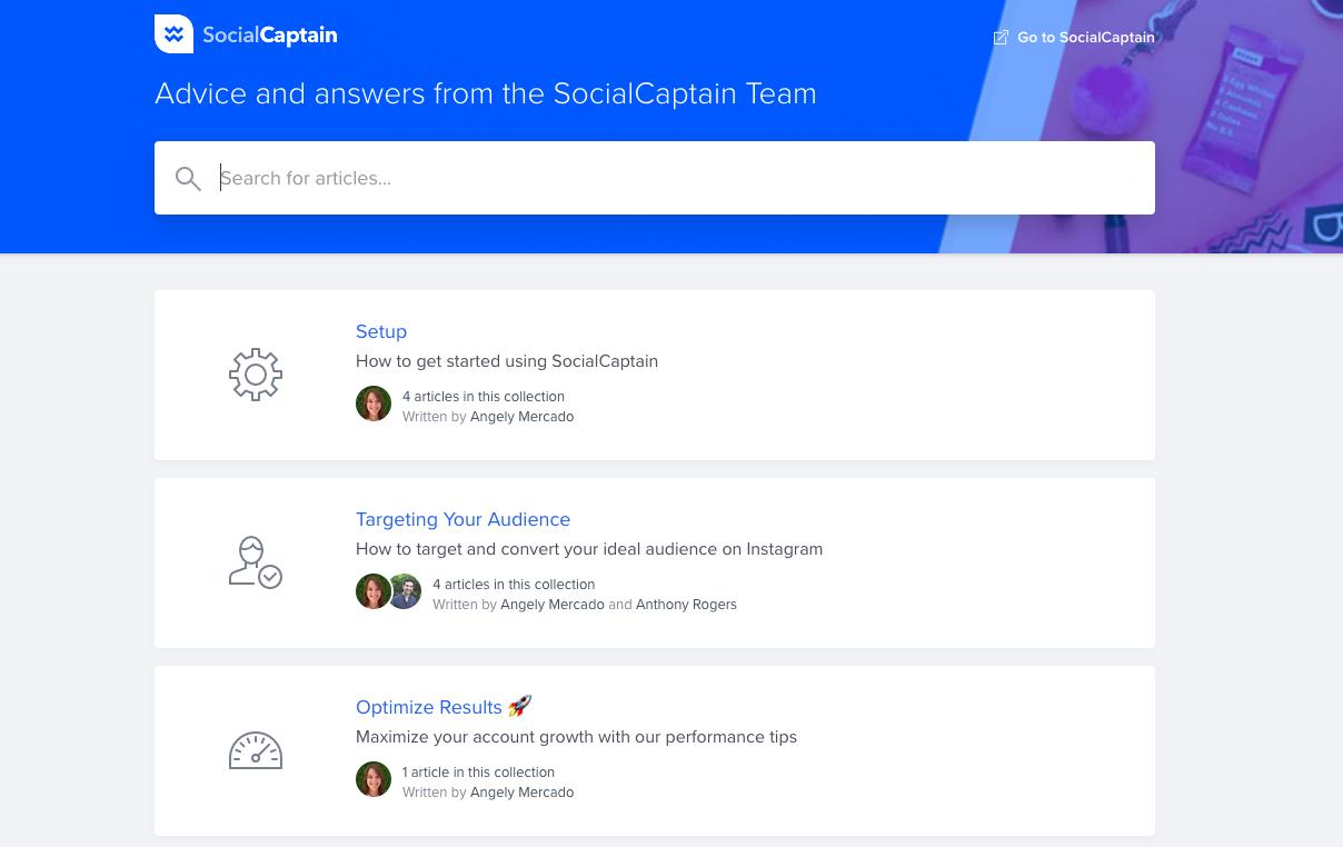 socialcaption FAQ page