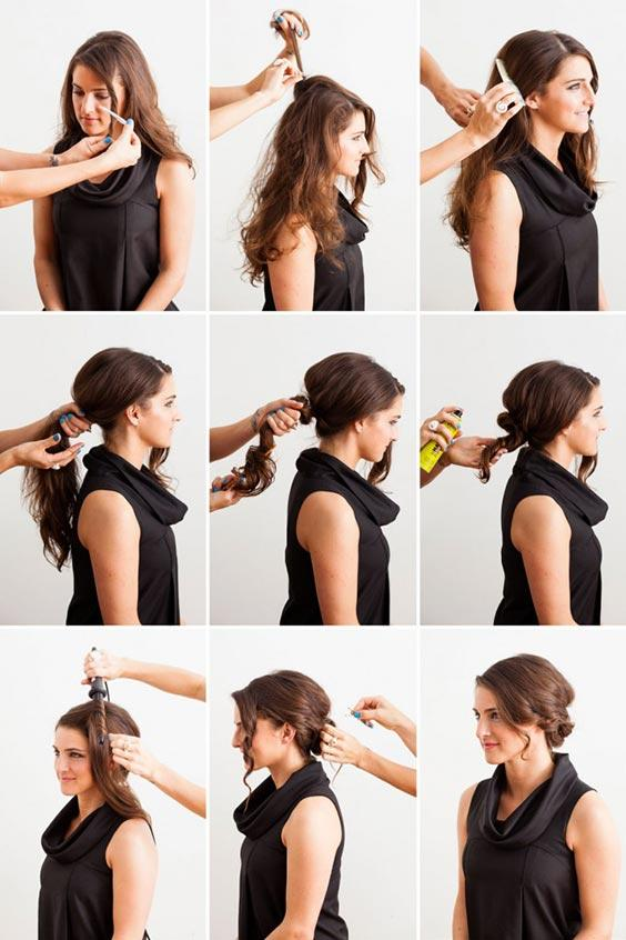 Tousled Updo hair styles