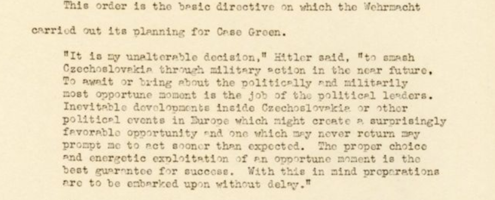 """Trial Brief and Index of Documents: """"The Execution of the Plan to Invade Czechoslovakia"""", p. 36 http://hdl.handle.net/11134/20002:1327"""