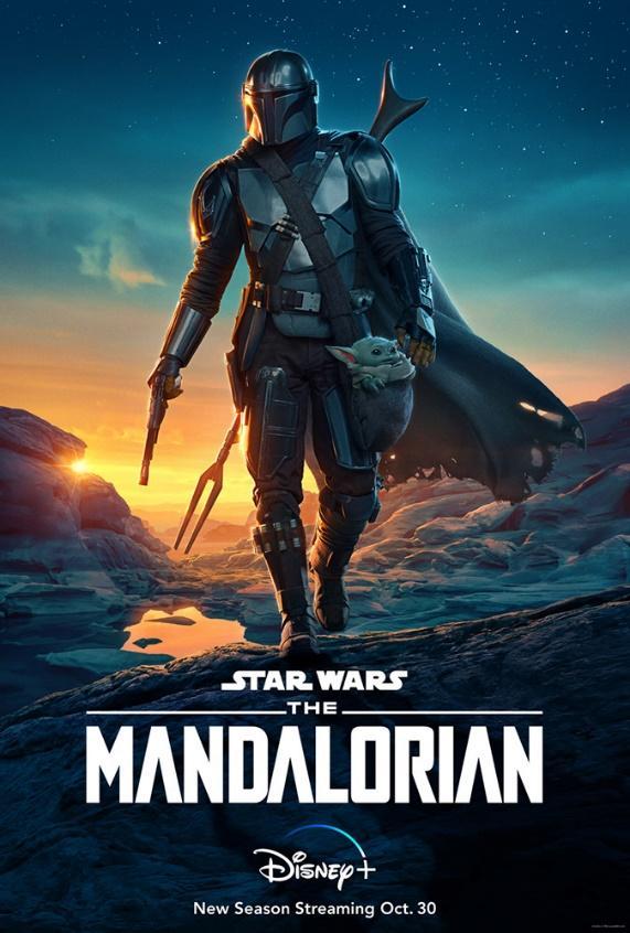 Key art for the second season of The Mandalorian.