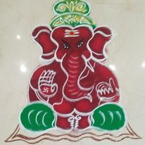 Easy Rangoli Design For Ganesh Chaturthi
