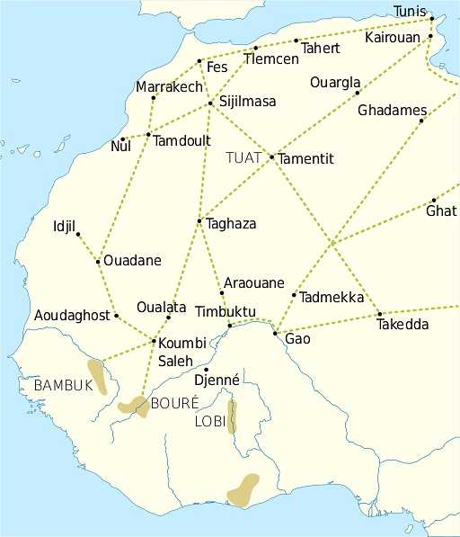 the almoravid dynasty - trans sahara trade routes across west africa
