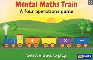 New game to play! Mental Maths Train   The Topmarks Blog