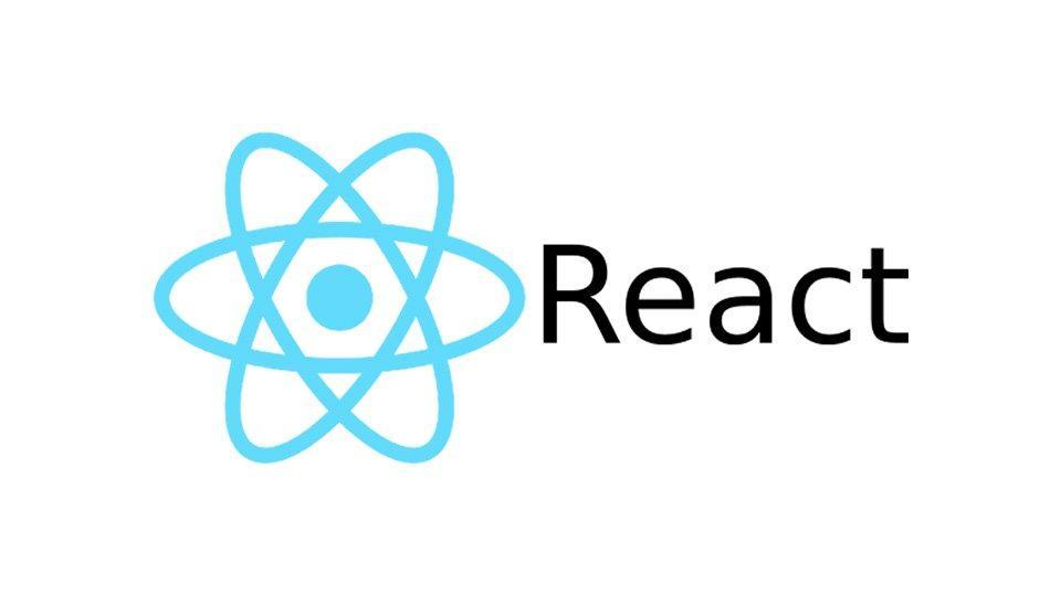 A screen showing React's logo.