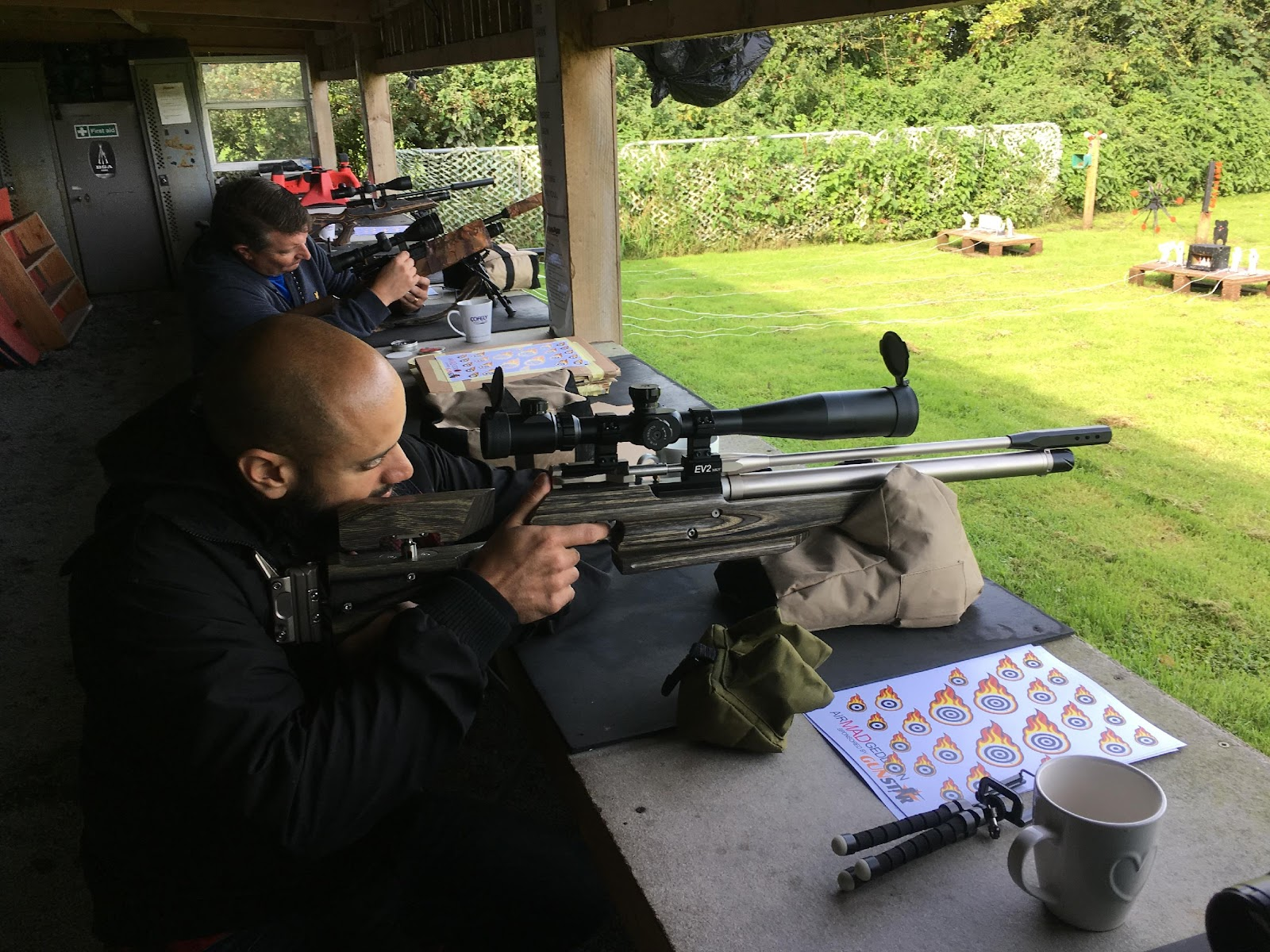 contestants shooting the benchrest targets