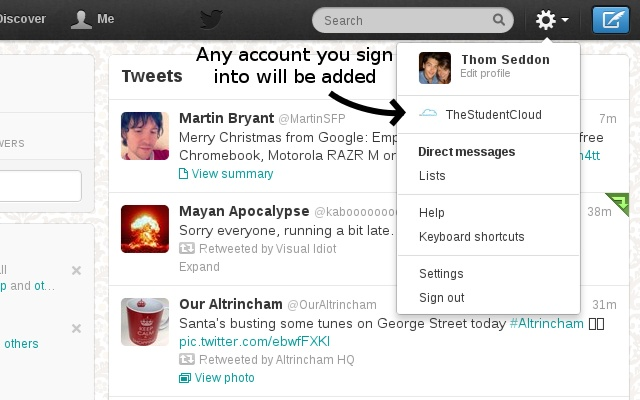 twitcher   twitter account switcher   chrome web store