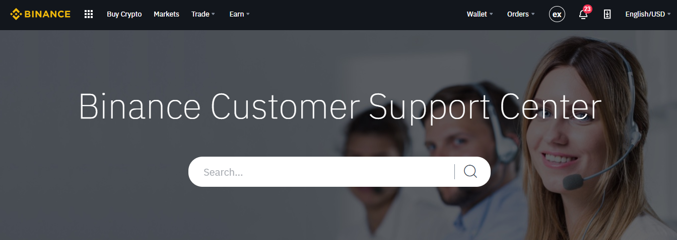 binance customer support centre