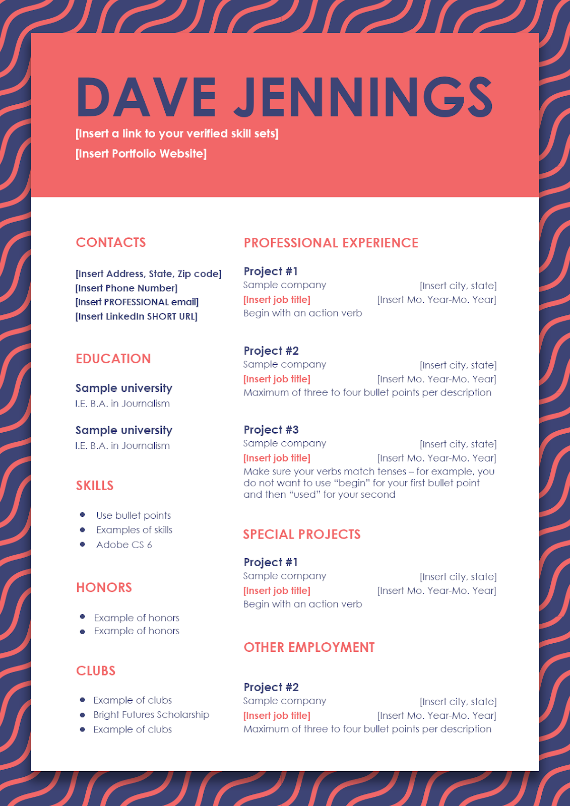 10 free psd resume templates to help yours stand out