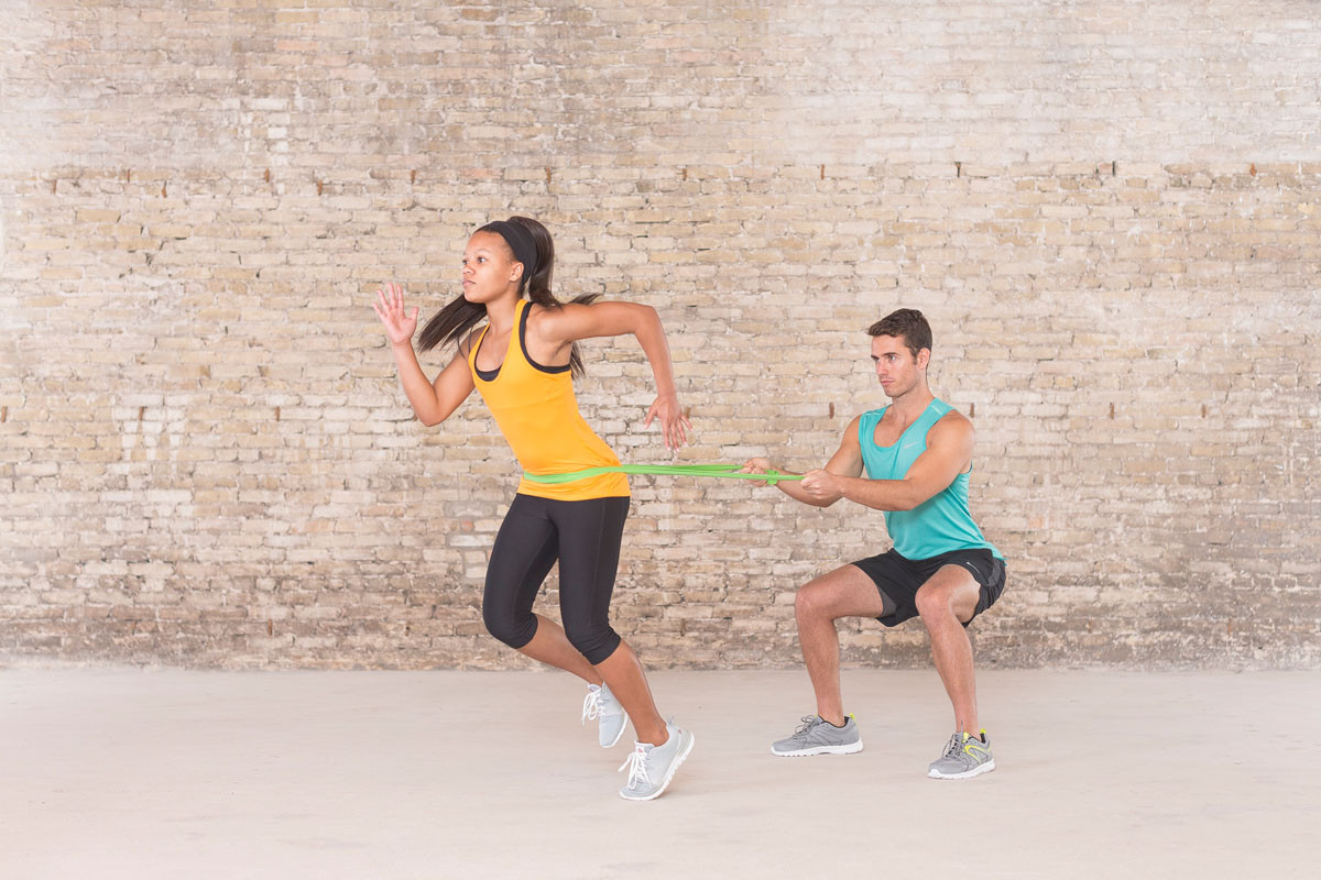 Move # 7: Band-Resisted Partner Sprints