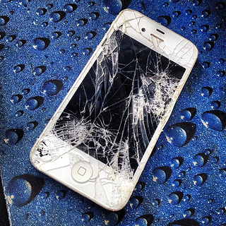 iPhone With Damaged Screen