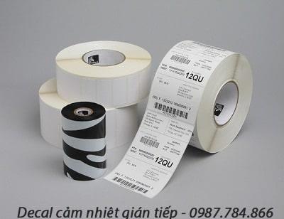 Chất liệu decal cảm nhiệt bán trực tiếp vẫn sử dụng mực in