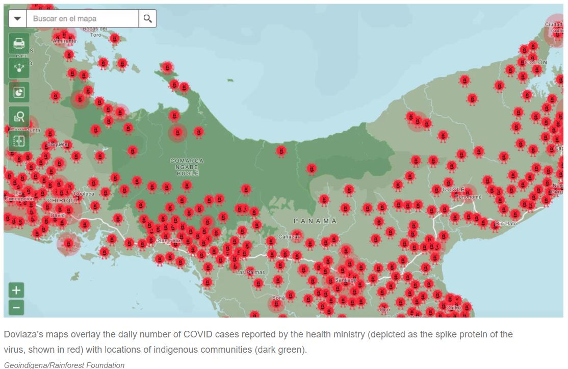 Indigenous Community Awareness - Panama, coronavirus maps