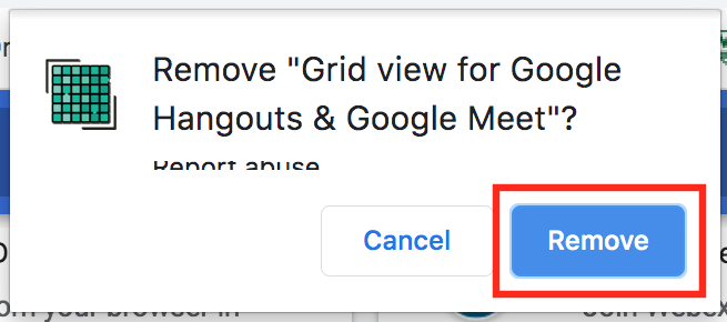 image of confirm remove button