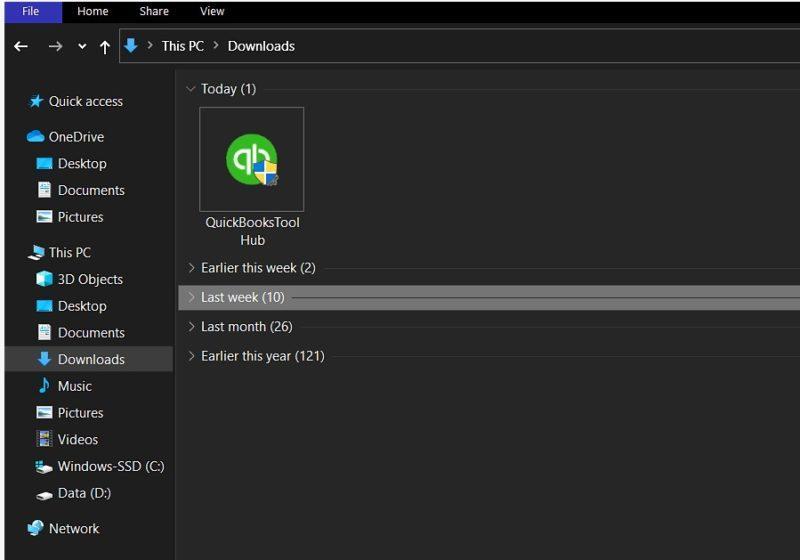 QuickBooksToolHub.Exe File - Screenshot 1