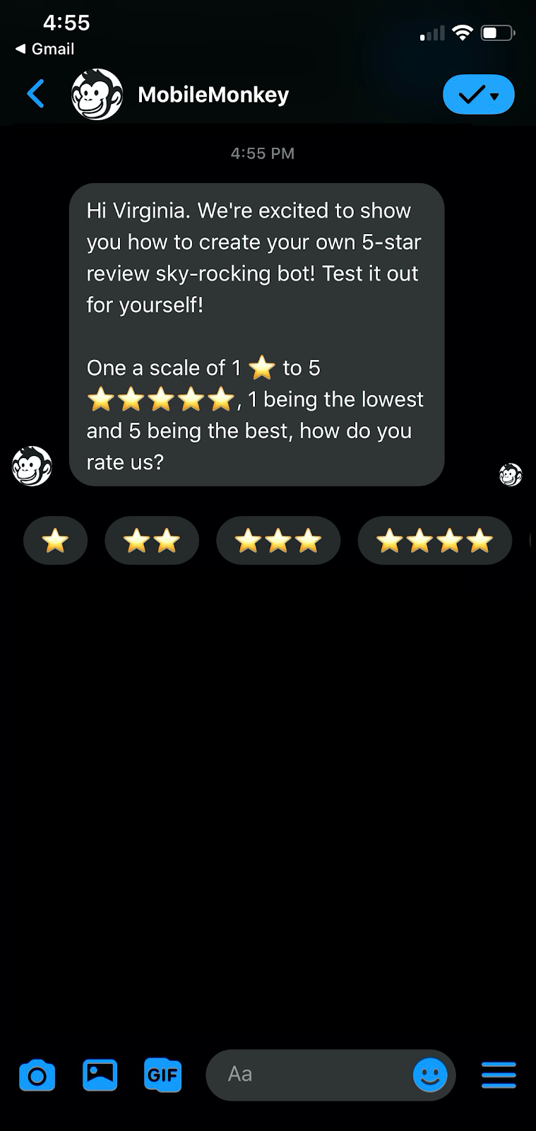 reviews bot demo