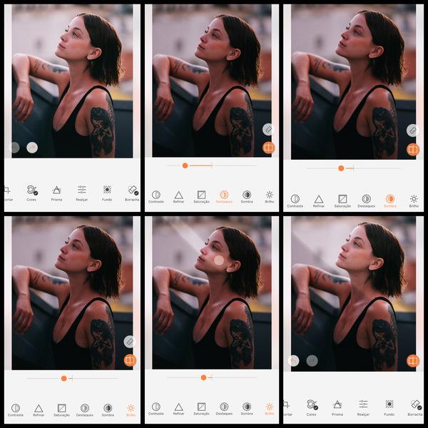 foto de uma mulher morena sendo editada pelo AirBrush