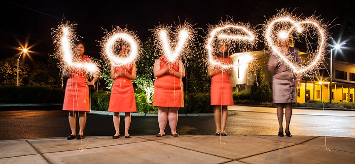 love drawing with sparklers
