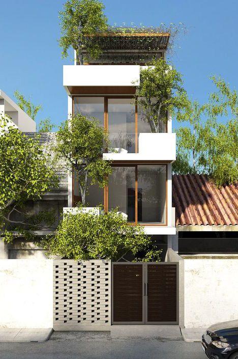 Mẫu thiết kế nhà 3.5 tầng đẹp