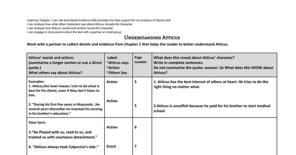 understanding atticus google docs