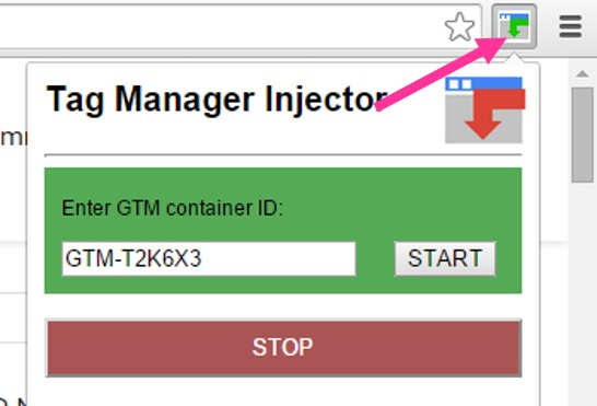 Tag Manager Injector Chrome Extension
