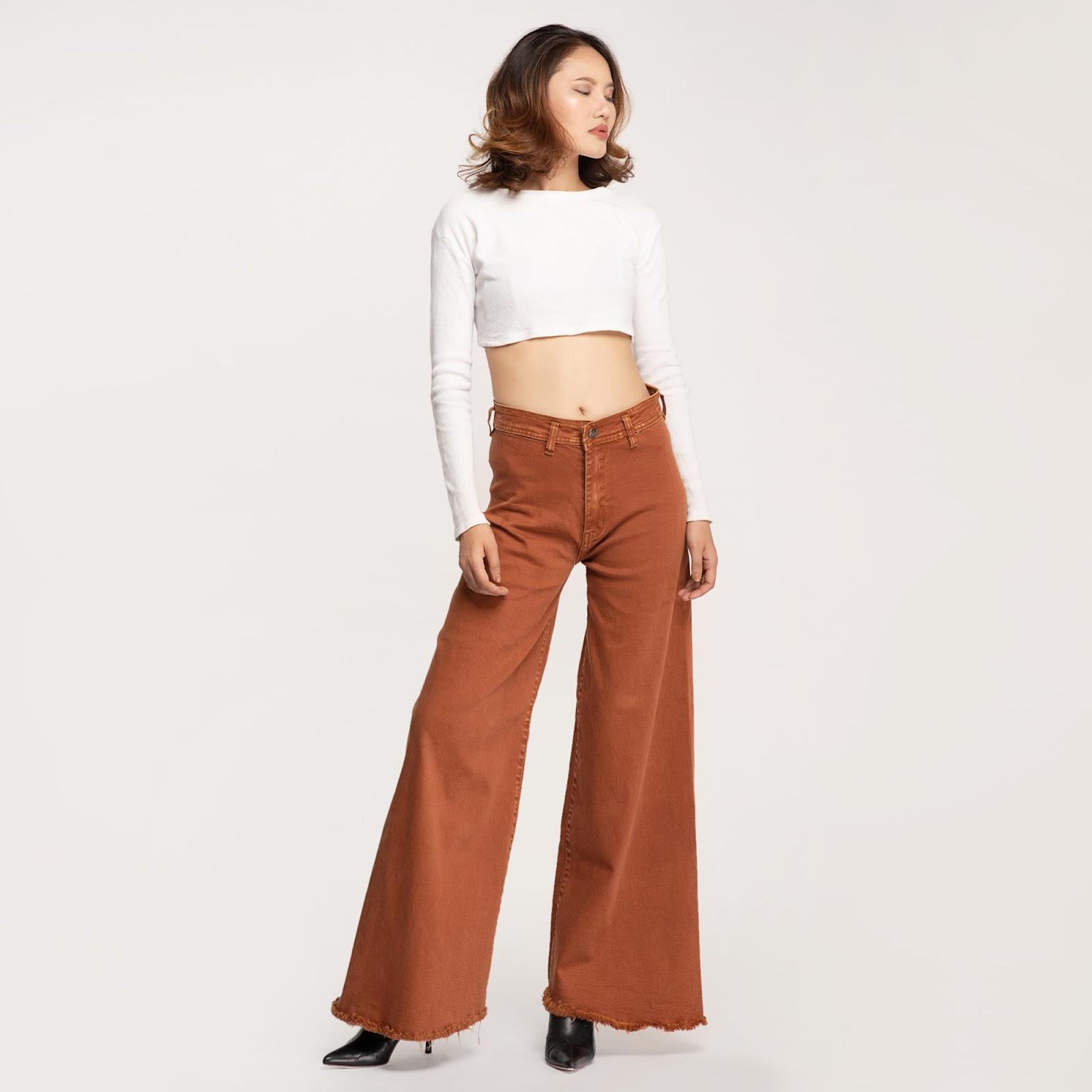 Đa dạng mẫu culottes jeans cho bạn lựa chọn