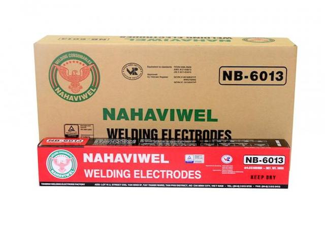 Que hàn điện nb-6013 loại 5mm phù hợp với tiêu chuẩn của Mỹ và Nhật Bản
