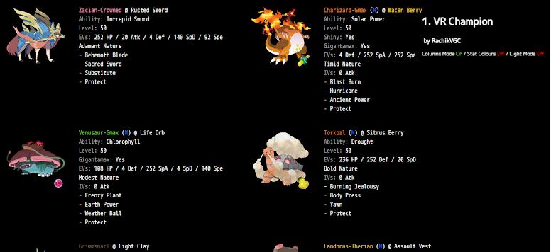 Pokémon Showdown Exemplo Time