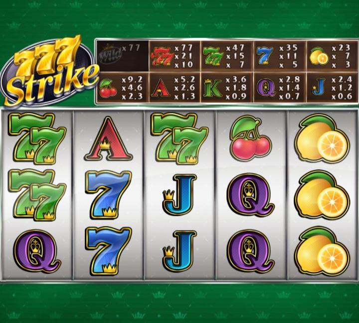 Red Tiger's 777 strike slot game screenshot
