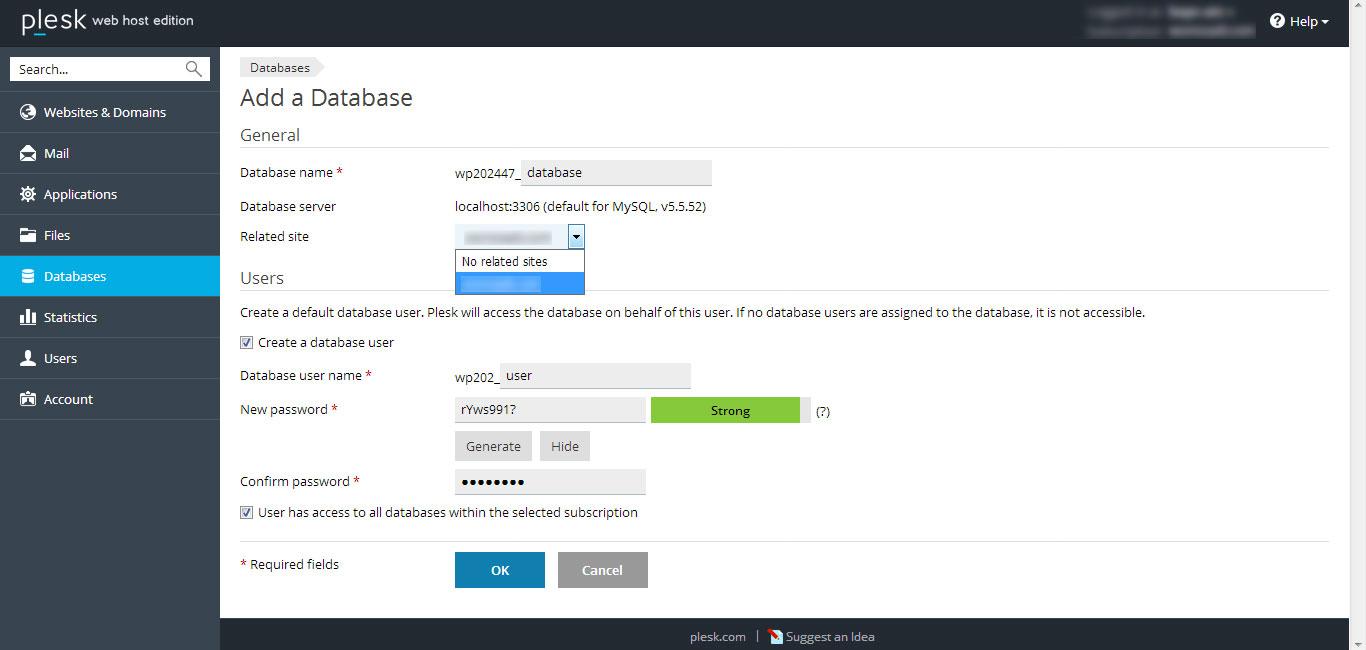 menambahkan user database