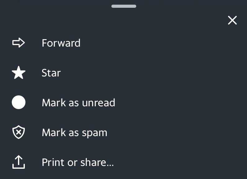 Mark as Spam from the drop down menu.