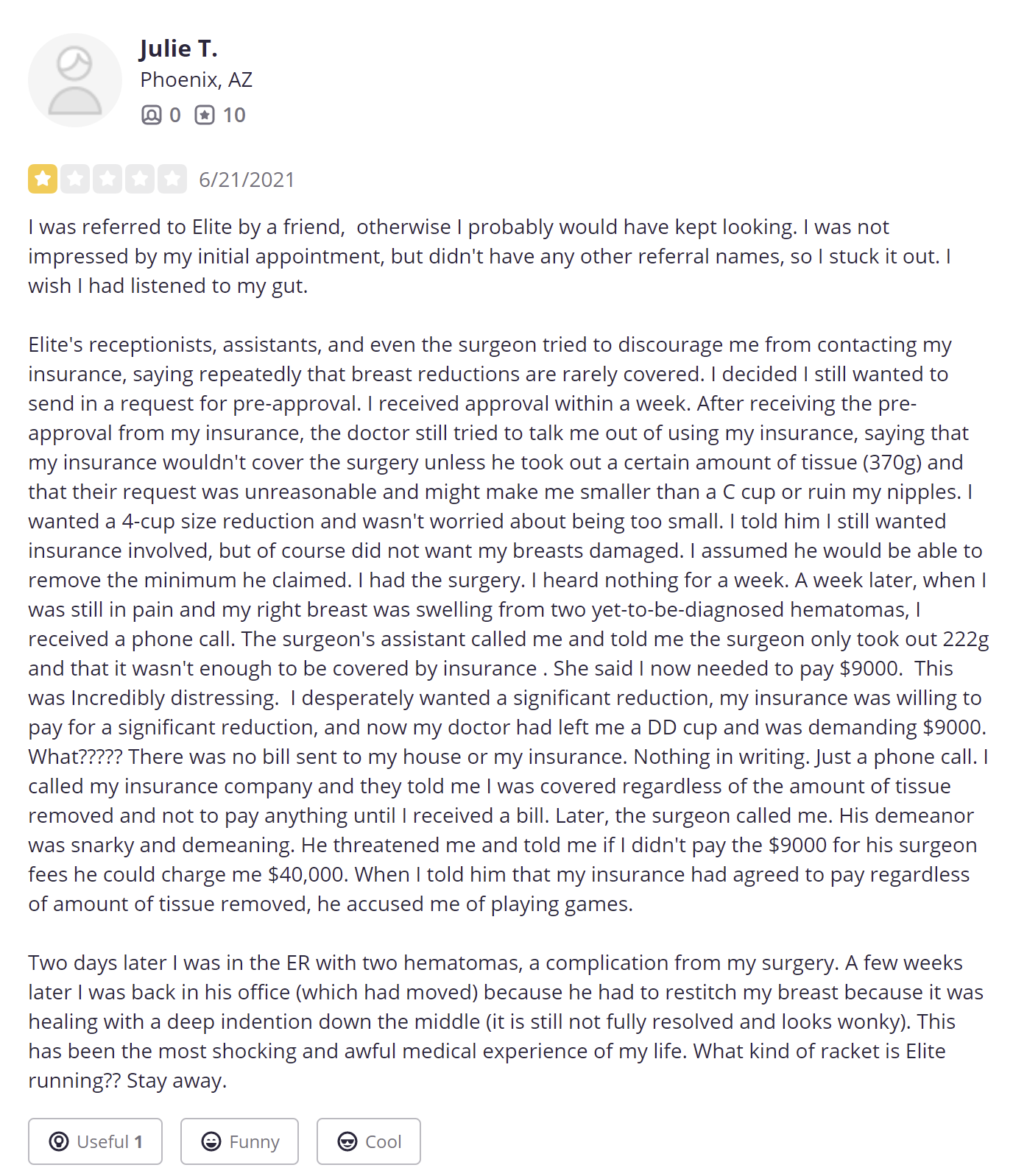 Elite Plastic and Reconstructive Surgery review