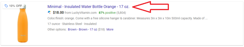 Google Shopping Feed Attributes title