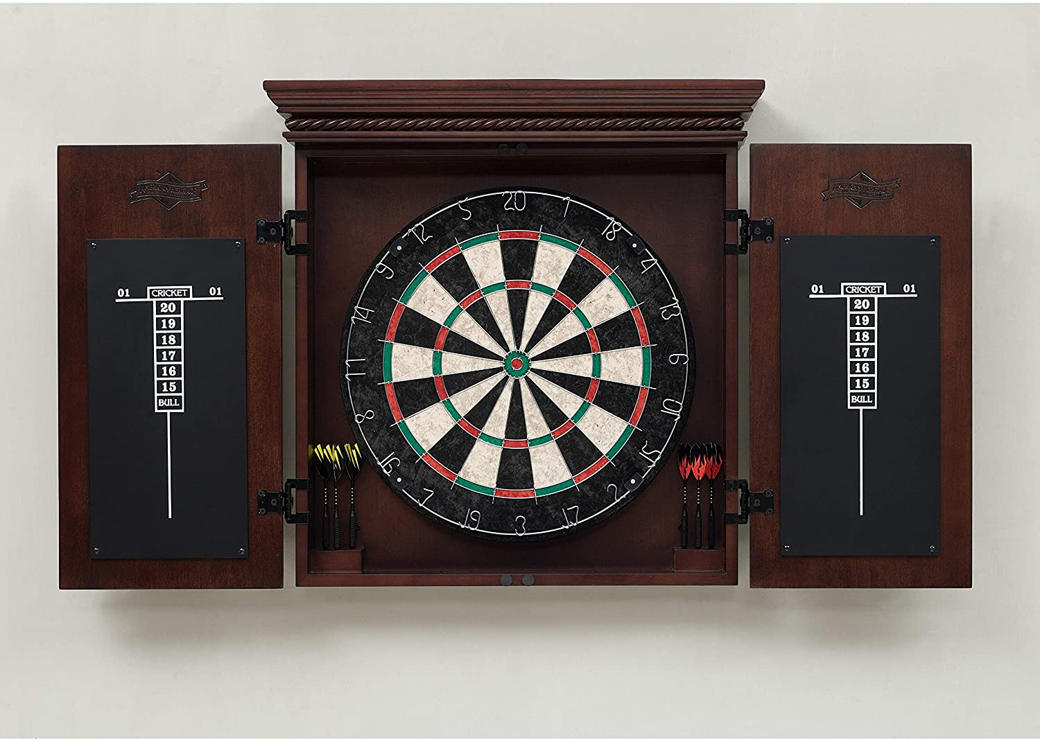 the best dart board cabinet