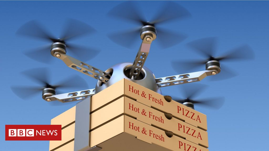 Drone businesses for delivery pizzas (BBC news)