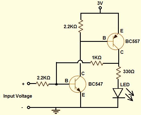 一个简单的晶体管锁存电路