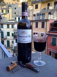 A glass of Brunello di Montalcino