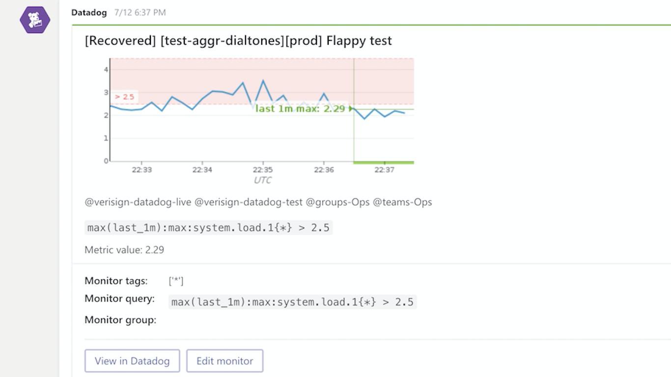 DataDog MS Teams App