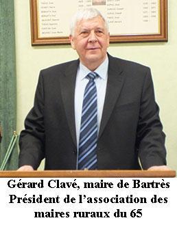 Communiqué de presse de Gérard Clavé Président des maires ruraux des  Hautes- Pyrénées – LOURDES-ACTU