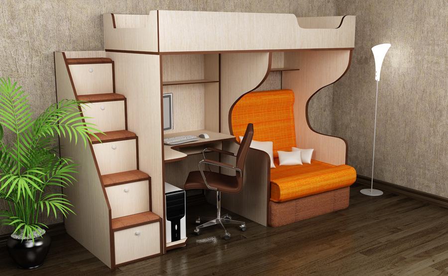 Кровать чердак с рабочей зоной для подростка своими руками