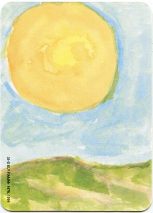 Карта из колоды метафорических карт Ох: солнце над степью