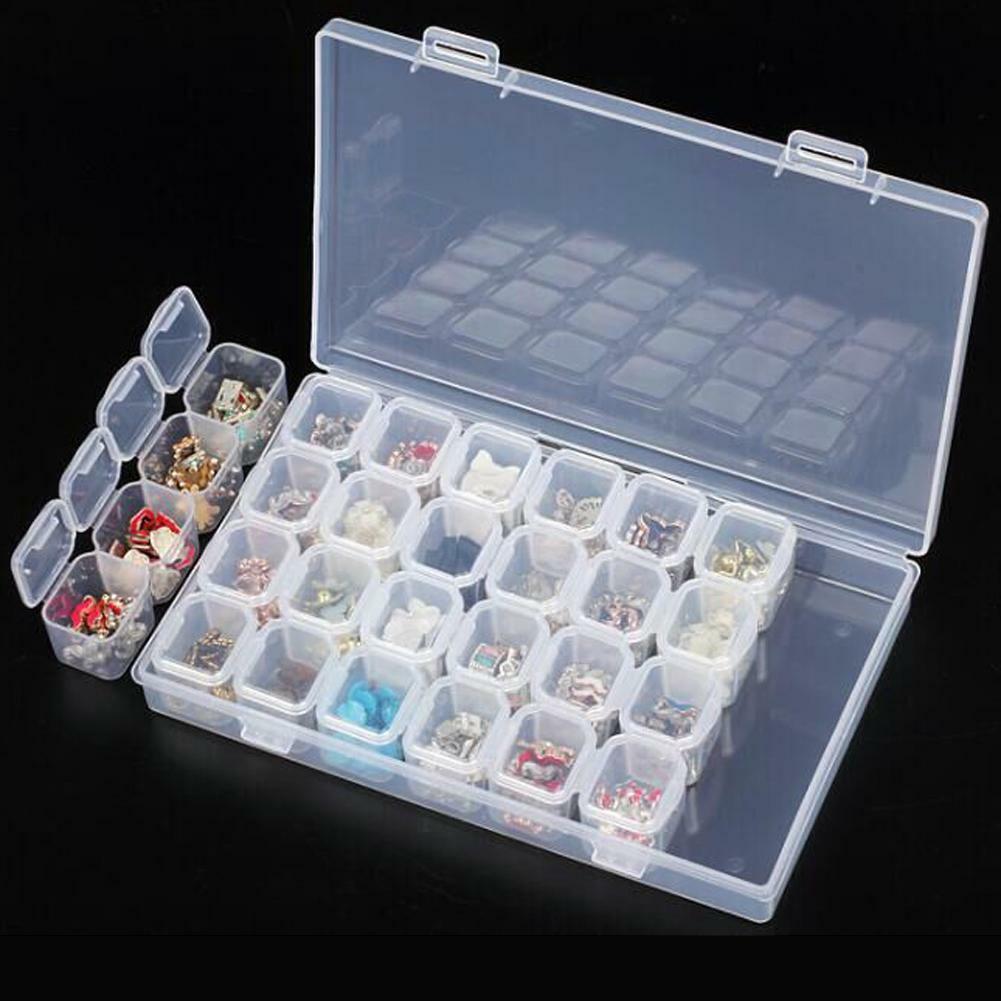 28 Slots Nail Art Storage Box
